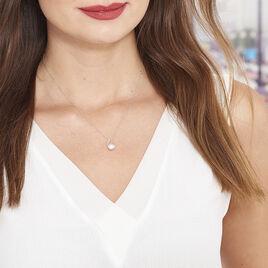 Collier Angel Or Blanc Perle De Culture Et Diamant - Bijoux Femme | Histoire d'Or