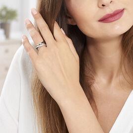 Bague Léona Argent Blanc Oxyde De Zirconium - Bagues avec pierre Femme | Histoire d'Or