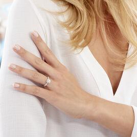 Bague Solitaire Bella Or Blanc Diamant Synthetique - Bagues avec pierre Femme | Histoire d'Or