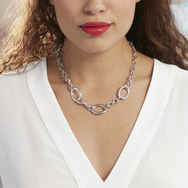 Collier Aelyn Argent Blanc - Colliers Infini Femme | Histoire d'Or