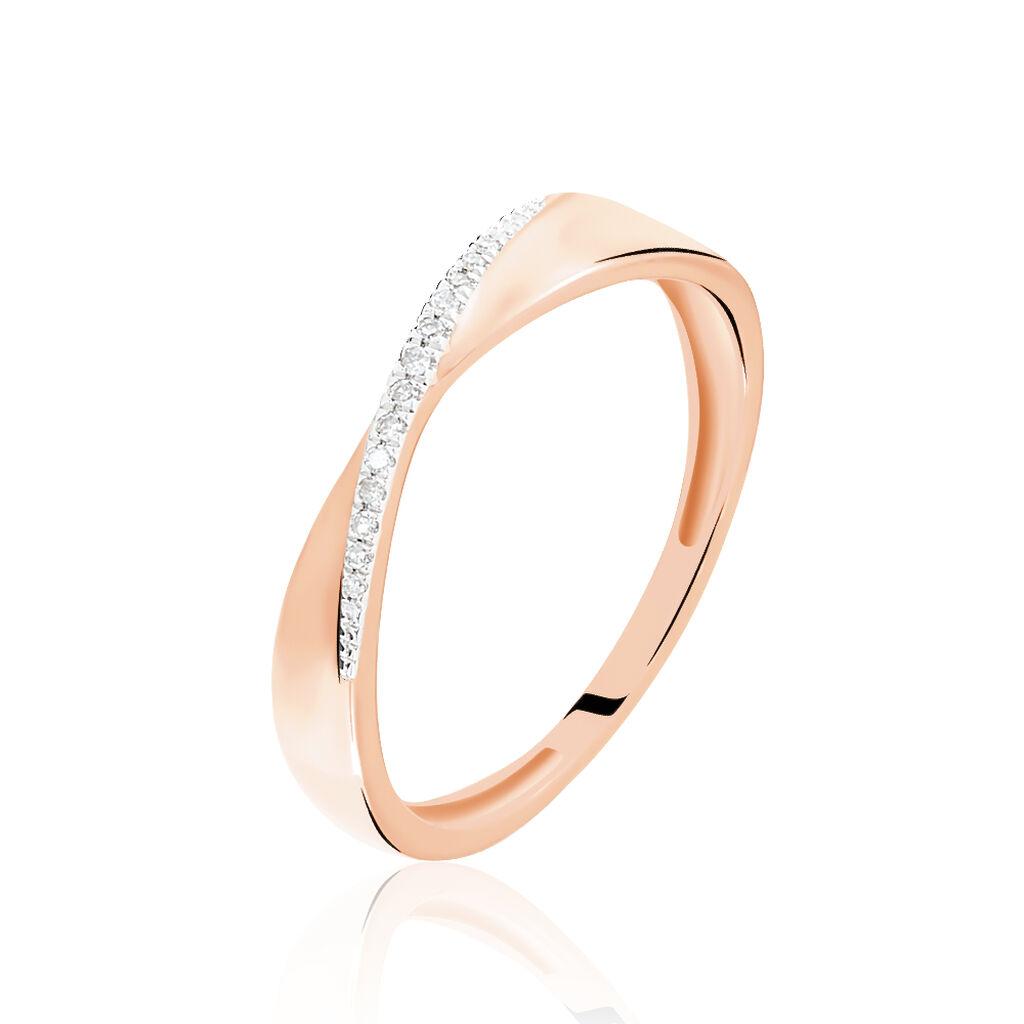 Bague Suzie Or Rose Diamant - Noël Femme | Histoire d'Or