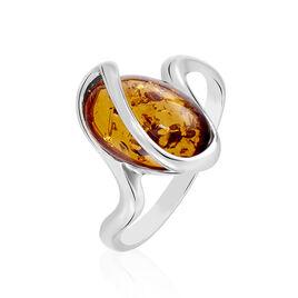 Bague Argent Ambre Amande - Bagues avec pierre Femme | Histoire d'Or