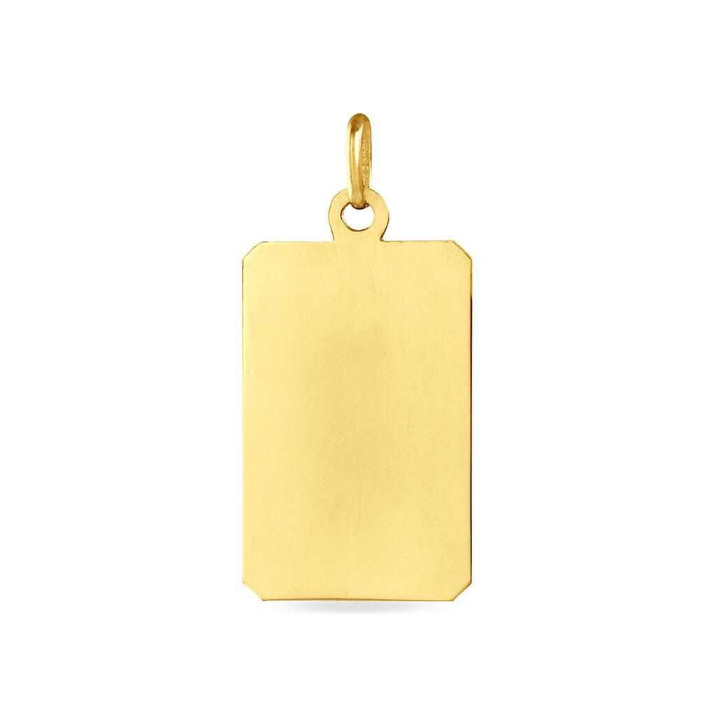 Pendentif Sirona Plaque Gravable Or Jaune - Pendentifs Unisexe | Histoire d'Or