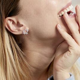 Boucles D'oreilles Pendantes Elinia Argent Blanc Oxyde De Zirconium - Boucles d'oreilles fantaisie Femme | Histoire d'Or