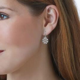 Boucles D'oreilles Puces Or Blanc Diamant - Boucles d'oreilles pendantes Femme | Histoire d'Or