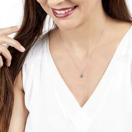 Collier Andrea Or Blanc Saphir Et Diamant - Bijoux Femme | Histoire d'Or