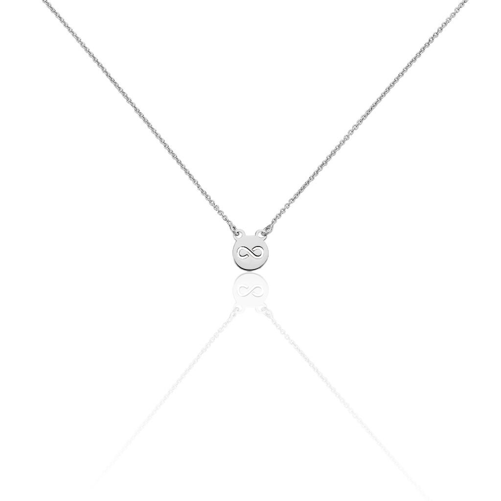 Collier Shereen Argent Blanc - Colliers Infini Femme   Histoire d'Or