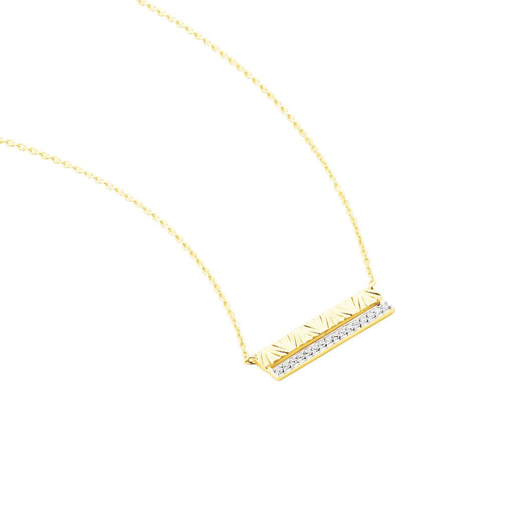 Collier Belinda Or Jaune Diamant - Bijoux Femme   Histoire d'Or