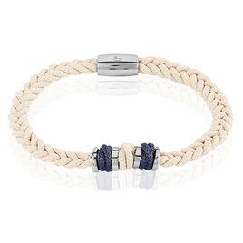 Bracelet Aretha Or Acier Bicolore - Bracelets cordon Homme | Histoire d'Or
