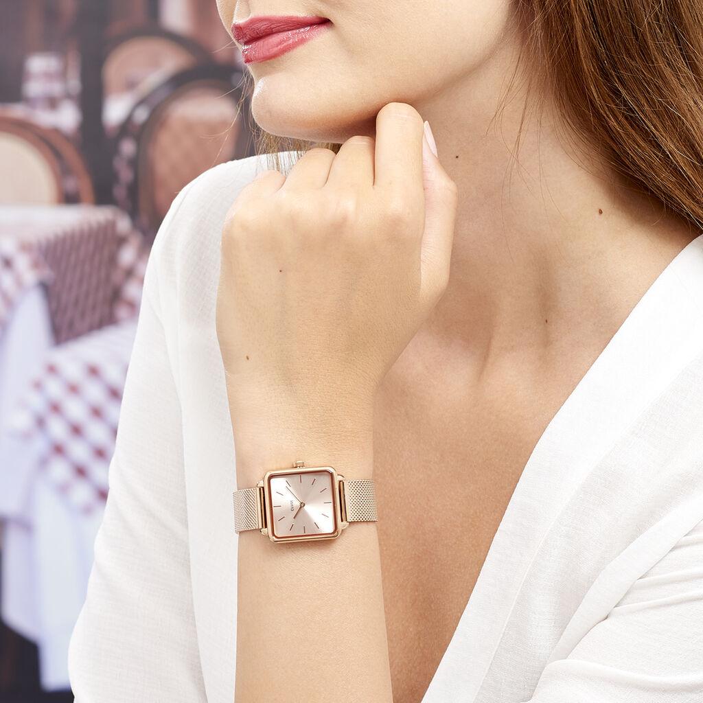 Montre Cluse La Tetragone Rose - Montres Femme   Histoire d'Or