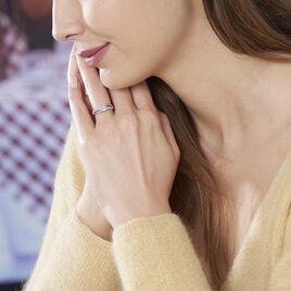 Bague Priscillienne Argent Blanc Oxyde De Zirconium - Bagues solitaires Femme   Histoire d'Or