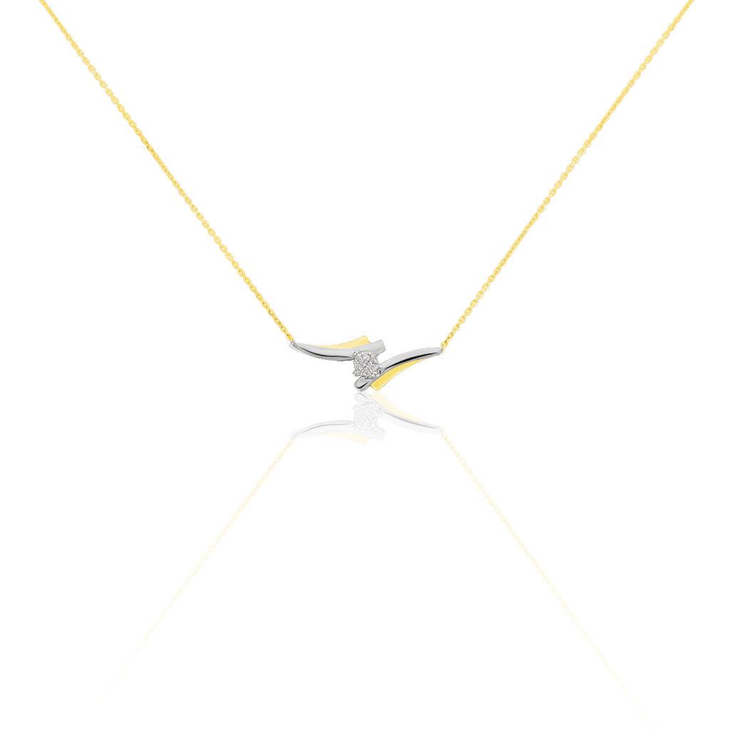Collier Catena Or Bicolore Diamant - Bijoux Femme | Histoire d'Or