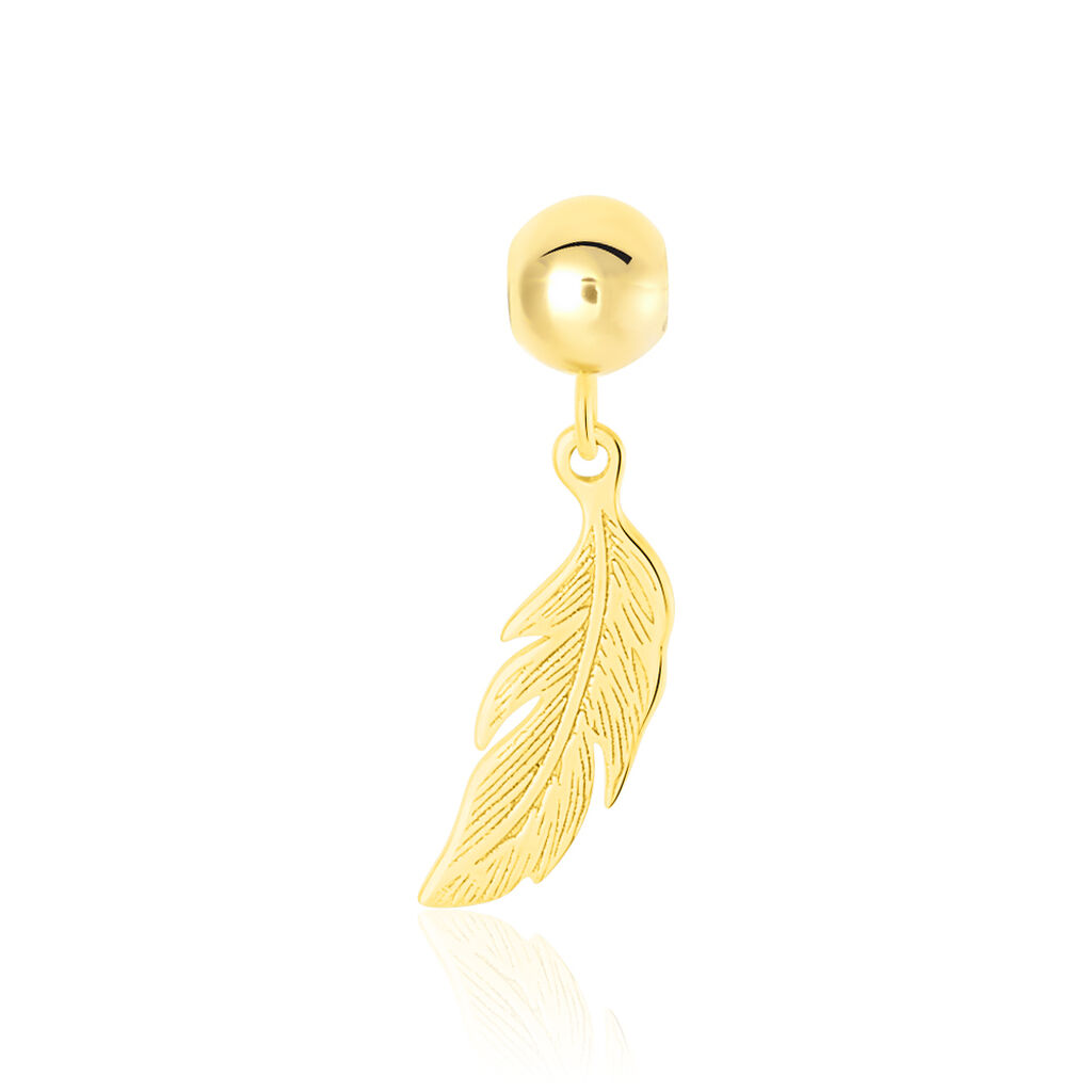 Charms Hedy Or Jaune - Pendentifs Plume Femme   Histoire d'Or