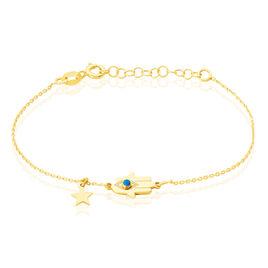 Bracelet Manie Argent Jaune Pierre De Synthese - Bracelets Main de Fatma Femme | Histoire d'Or
