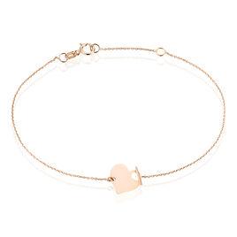 Bracelet Tyfen Or Rose - Bracelets Coeur Femme | Histoire d'Or