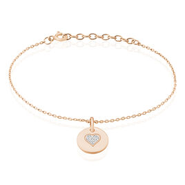 Bracelet Xaverie Argent Rose Oxyde - Bracelets Coeur Femme | Histoire d'Or