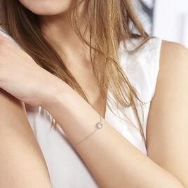Bracelet Elianne Argent Blanc Oxyde De Zirconium - Bracelets fantaisie Femme | Histoire d'Or