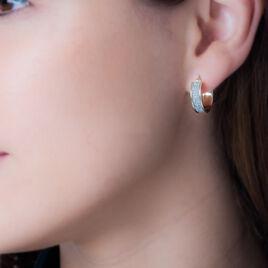 Créoles Lolly Fil Glitter Or Jaune - Boucles d'oreilles créoles Femme | Histoire d'Or