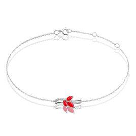 Bracelet Maura Or Blanc Rubis Diamant - Bijoux Femme   Histoire d'Or