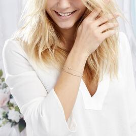 Bracelet Jonc Ruth Argent Blanc Oxyde De Zirconium - Bracelets fantaisie Femme | Histoire d'Or