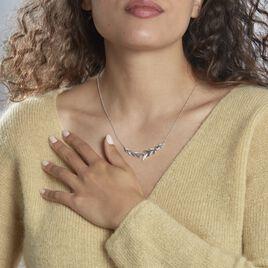Collier Andeol Argent Blanc Oxyde De Zirconium - Colliers Plume Femme   Histoire d'Or