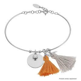 Bracelet Jonc Paula Argent Blanc Oxyde De Zirconium - Bracelets fantaisie Femme   Histoire d'Or
