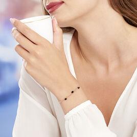 Bracelet Diamantine Argent Rose Pierre De Synthese - Bracelets fantaisie Femme | Histoire d'Or