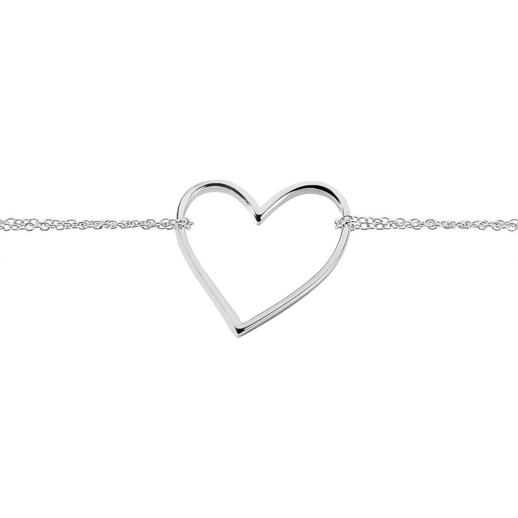 Bracelet Lighty Acier Blanc - Bracelets Coeur Femme   Histoire d'Or
