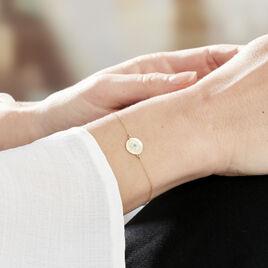 Bracelet Firmine Or Jaune Oxyde De Zirconium - Bijoux Femme   Histoire d'Or