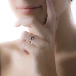 Bague Tamyra Or Blanc Saphir - Bagues solitaires Femme | Histoire d'Or