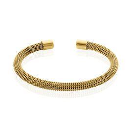 Bracelet Jonc Acier Doré Sibil - Bracelets fantaisie Femme | Histoire d'Or
