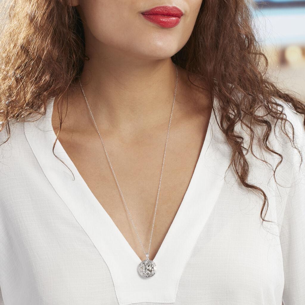 Collier Sautoir Fantine Argent Blanc Oxyde De Zirconium - Sautoirs Femme   Histoire d'Or