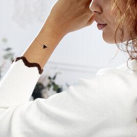 Bracelet Argent Rose Amellia Triangle - Bracelets fantaisie Femme | Histoire d'Or