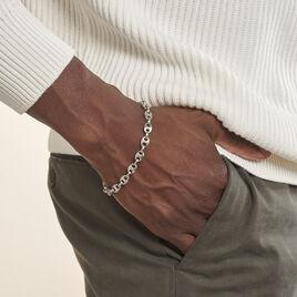 Bracelet Cadia Antique Acier Gris - Bracelets fantaisie Homme   Histoire d'Or