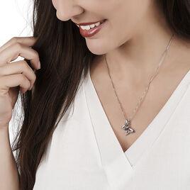 Collier Argent Blanc Oxyde De Zirconium - Colliers Papillon Femme | Histoire d'Or