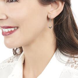 Boucles D'oreilles Pendantes Tilane Or Blanc Diamant - Boucles d'oreilles pendantes Femme | Histoire d'Or