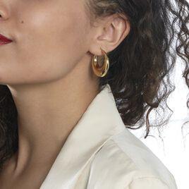 Créoles Creolia Acier Jaune - Boucles d'oreilles créoles Femme   Histoire d'Or