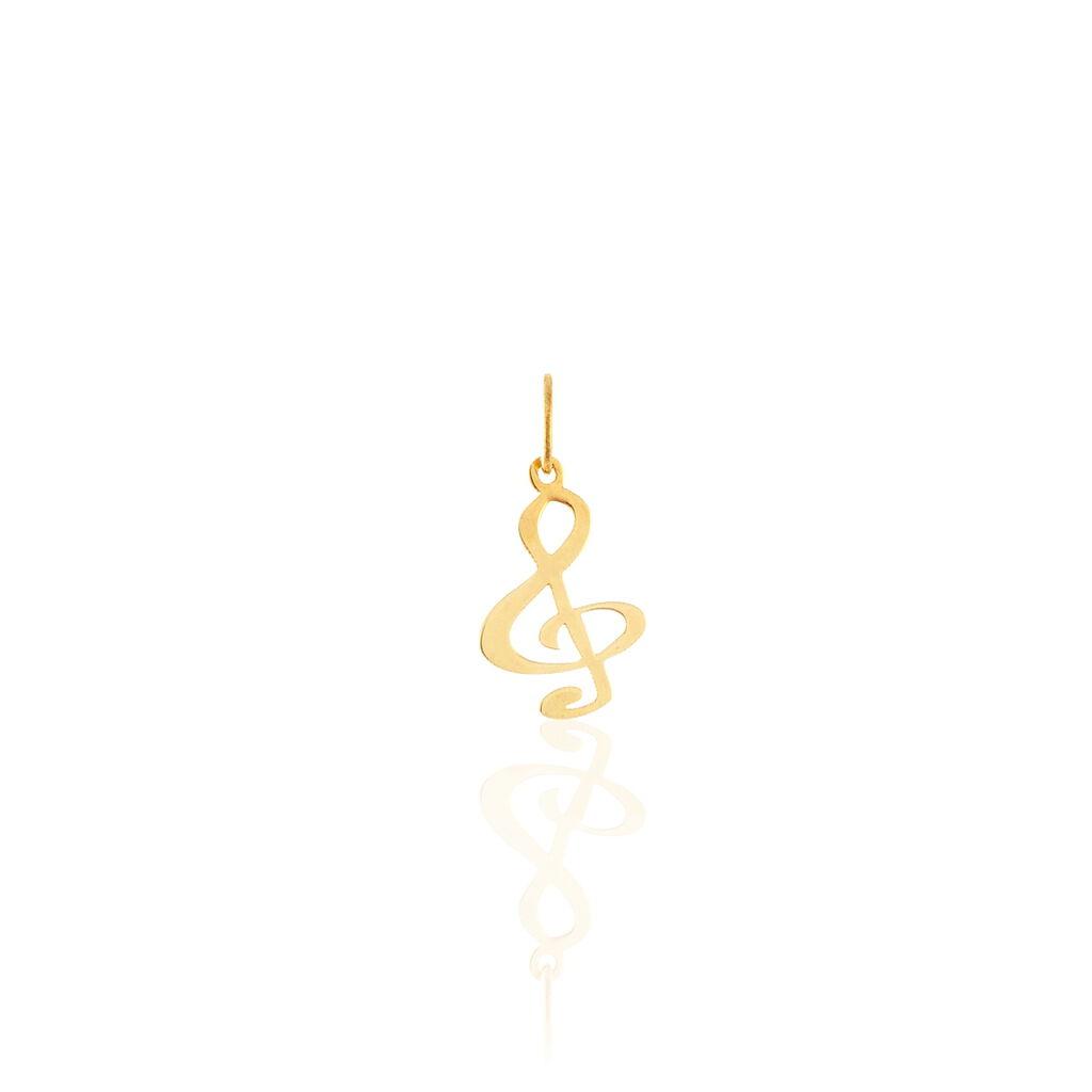 Pendentif Fausta Musique Or Jaune - Pendentifs Unisexe | Histoire d'Or
