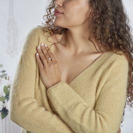 Bague Solitaire Illiona Plaque Or Rose Oxyde De Zirconium - Bagues solitaires Femme | Histoire d'Or