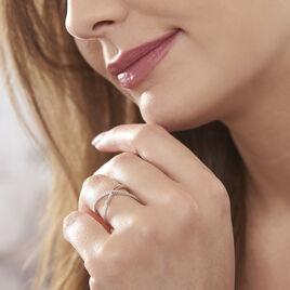 Bague Miya Argent Blanc Oxyde De Zirconium - Bagues avec pierre Femme | Histoire d'Or