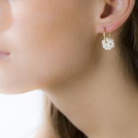 Boucles D'oreilles Or Perle De Culture - Boucles d'oreilles créoles Femme | Histoire d'Or