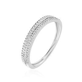 Bague Margette Or Blanc Diamant - Bagues avec pierre Femme | Histoire d'Or