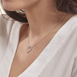 Collier Miliza Argent Blanc Oxyde De Zirconium - Colliers Coeur Femme | Histoire d'Or
