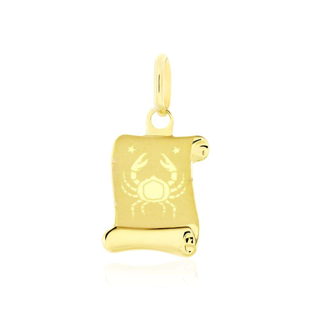 Pendentif Lamie Zodiaque Parchemin Or Jaune - Pendentifs Zodiaque Unisexe   Histoire d'Or