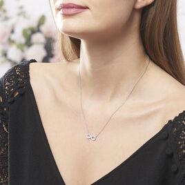 Collier Lou Argent Blanc Oxyde De Zirconium - Colliers Infini Femme | Histoire d'Or