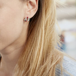 Boucles D'oreilles Pendantes Eliniane Argent Blanc Oxyde De Zirconium - Boucles d'oreilles fantaisie Femme | Histoire d'Or