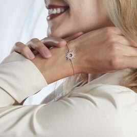 Bracelet Lip Henriette Argent Blanc Oxyde De Zirconium - Bracelets fantaisie Femme   Histoire d'Or