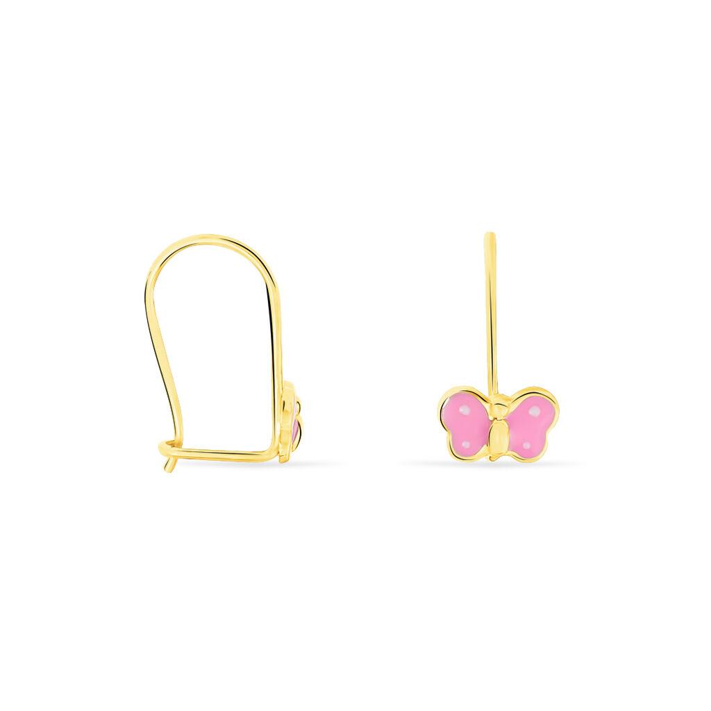 Boucles D'oreilles Pendantes Souline Papillon Or Jaune - Boucles d'Oreilles Papillon Enfant | Histoire d'Or