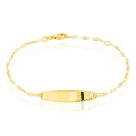 Bracelet Identité Eowyn Maille Fantaisie Or Jaune - Bracelets Communion Enfant | Histoire d'Or