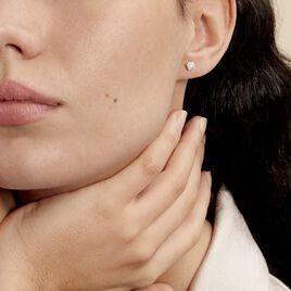 Boucles D'oreilles Puces Grace Or Blanc Diamant - Clous d'oreilles Femme | Histoire d'Or